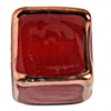 Glass Lamp Bead Cubes 13mm Siam Ruby/Bronze